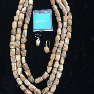 Jay King petrified wood necklace
